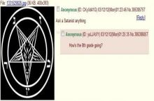Anon the satanist