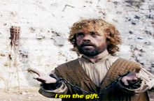 When you go to a party without a gift