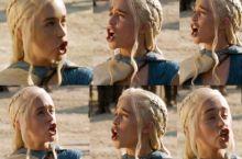 Daenerys tries duck face.