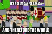 Wishing everyone a Happy Canada Day, as is tradition