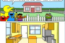 Sesame Street buys Oscar a house