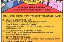 False Rape Accusation Prevention tips.