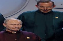Putin and the PM of Australia looking like Star Trek villains