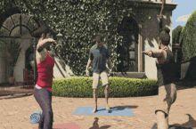 me doing yoga..