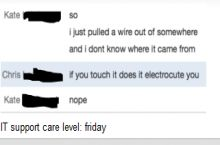 IT Support Care Level: Friday