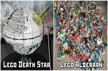 LEGO Starwars Deathstar and Alderaan!