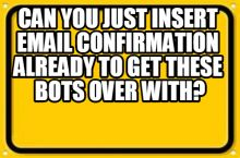 """You said soon hugelol, four months later isn't """"soon"""", also add a report bot option"""