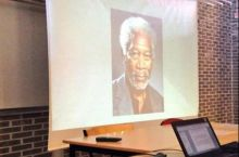 2 girls were having a Nelson Mandela presentation today.