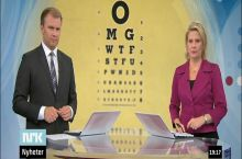 National news in Norway did a piece on eye tests. Anchors had no clue.