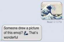 """Someone drew a picture of this emoji?"""