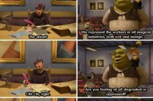Shrek in a nutshell.