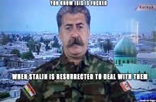 Kurdish Stalin battling ISIS
