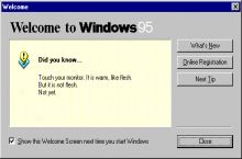 Windows 95 is savage
