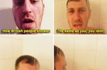 How British people shower.