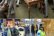 How the British as seen by Americans and Europeans