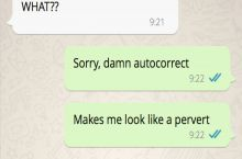 When auto-correct makes you sound like a pervert